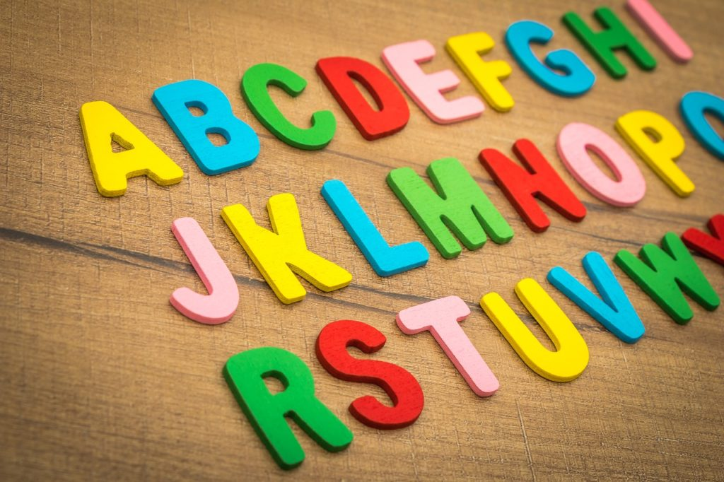 alphabet, letter, English